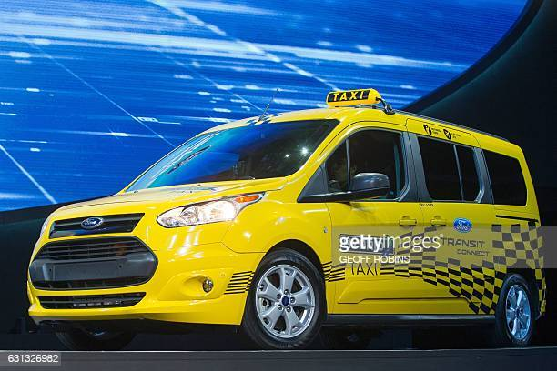The New Ford Transit Connect Hybrid Taxi Is Introduced During Company S Press Conference At