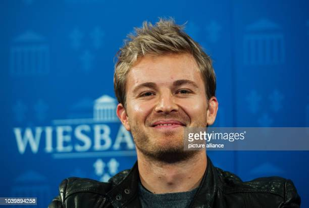The new Formula 1 world champion Nico Rosberg pictured in Wiesbaden Germany 30 November 2016 Nico Rosberg was born in Wiesbaden and today he was...