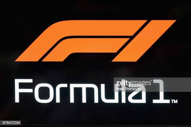 The new Formula One World Championship logo is unveiled during the Abu Dhabi Formula One Grand Prix at Yas Marina Circuit on November 26 2017 in Abu...