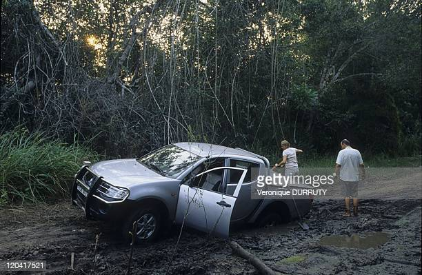 The New Four Wheels Drive Stucked On The Mud In Congo