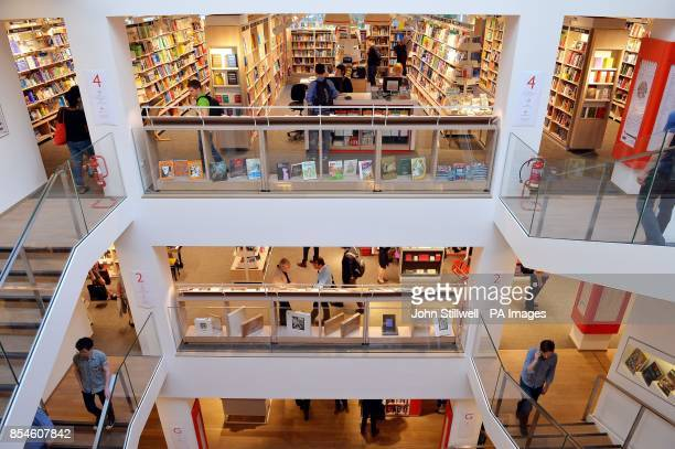 The new Foyles flagship bookshop on Charing Cross Road London as it was officially opened by author Hilary Mantel