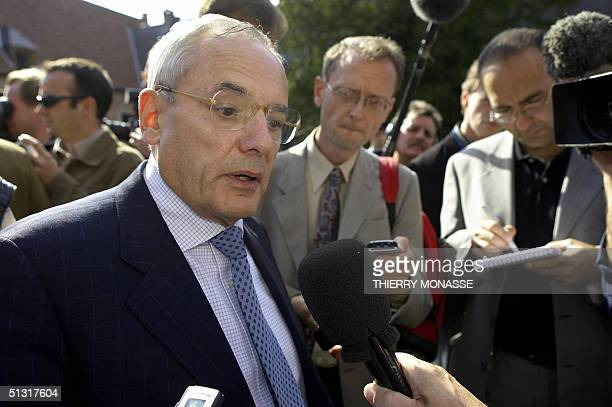 The new French Commissioner for Transport Jacques Barrot, answers questions as he arrives at an informal meeting with his newly-installed...