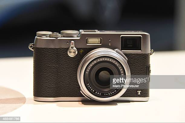 The new Fuji X100T camera with the Fujinon Super EBC f 23 mm lens is displayed at the Photokina 2014 trade fair on September 15 2014 in Cologne...