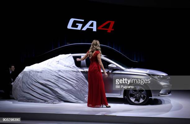 The new GAC Motor GA4 makes its debut at the 2018 North American International Auto Show January 15 2018 in Detroit Michigan More than 5100...