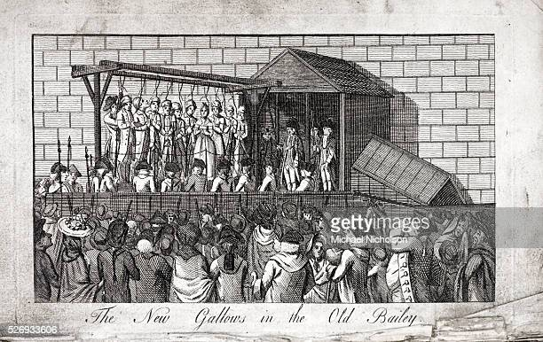 The new gallows at the Old Bailey From The Old Bailey Chronicle of 1784 A horrific picture of massproduction execution Here a group of ten men and...