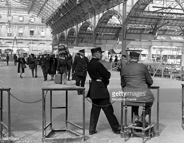 The new Gare de l'Est station in September 1929 in Paris France