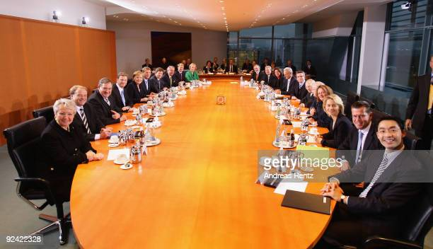 The new German cabinet including Education Minister Annette Schavan Development Minister Dirk Niebel Minister of Work and Social Issues Franz Josef...