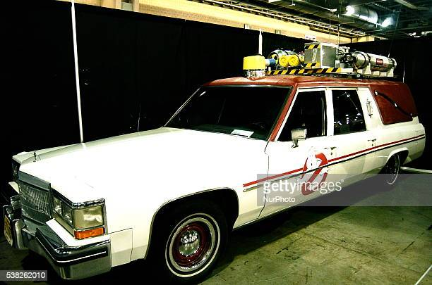 The new Ghostbusters car is on display to promote the reboot of the cult classic movie at the Philadelphia convention Center in Philadelphia, PA, on...