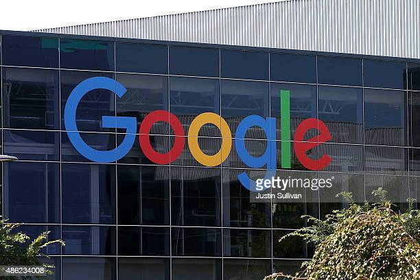 The new Google logo is displayed at the Google headquarters on September 2, 2015 in Mountain View, California. Google has made the most dramatic...