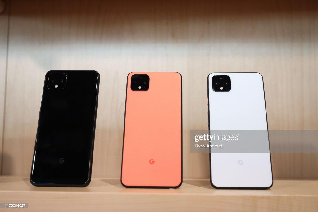 Google Unveils New Pixel 4 Smart Phone : News Photo