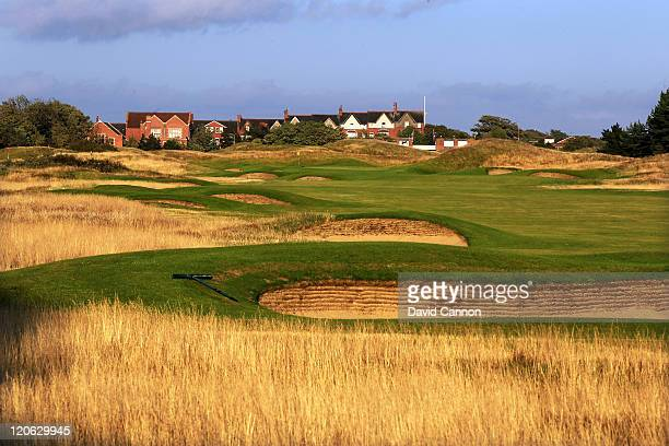 The new green and approach on the 589 yards par 5 7th hole at Royal Lytham and St Annes Golf Club the venue for the 2012 Open Championship on July 25...