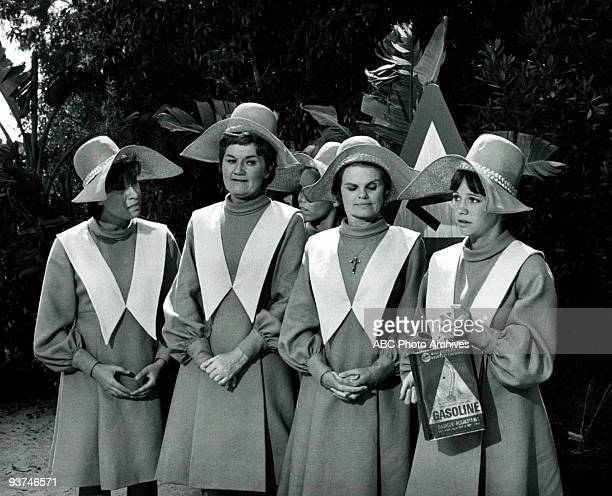 NUN The New Habit Season Three 11/19/69 The Sisters displayed their stylish new habit which featured a wingless bonnet Pictured from left Shelley...