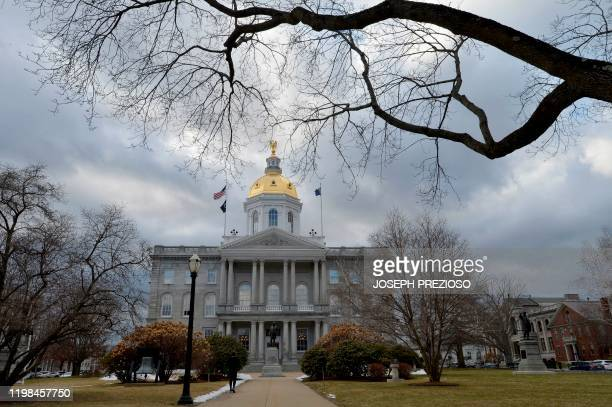 The New Hampshire State House in Concord New Hampshire is seen on February 3 2020 We like to say were the state that knows how to pick presidents...