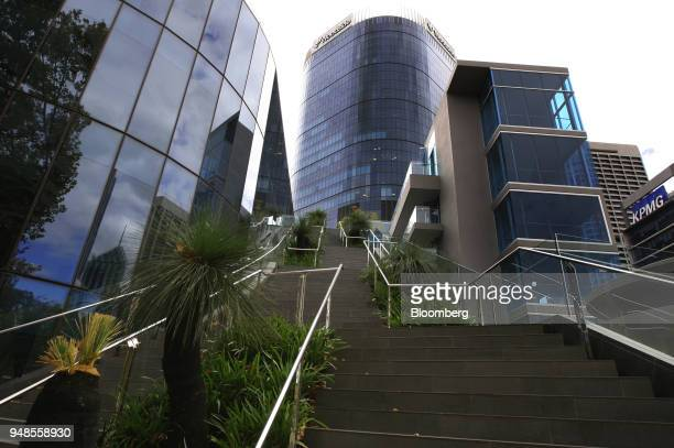 The new headquarters of Woodside Petroleum Ltd center stands in Perth Australia on Thursday April 19 2018 One partner in the NorthWest Shelf LNG...