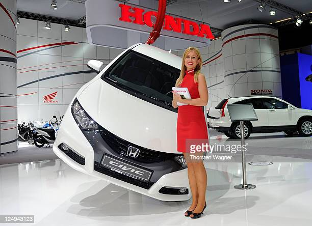 The new Honda Civic is pictured during the press days at the IAA Frankfurt Auto Show on September 14, 2011 in Frankfurt am Main, Germany. The IAA...