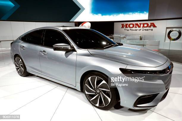 The new Honda Insight prototype vehicle makes it's world debut at the 2018 North American International Auto Show January 15 2018 in Detroit Michigan...