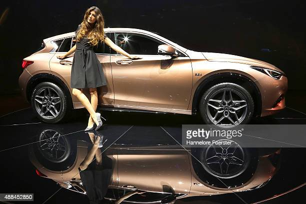 The new Infiniti Q 30 at the Infiniti stand at the 2015 IAA Frankfurt Auto Show during a press day on September 16 2015 in Frankfurt Germany The IAA...