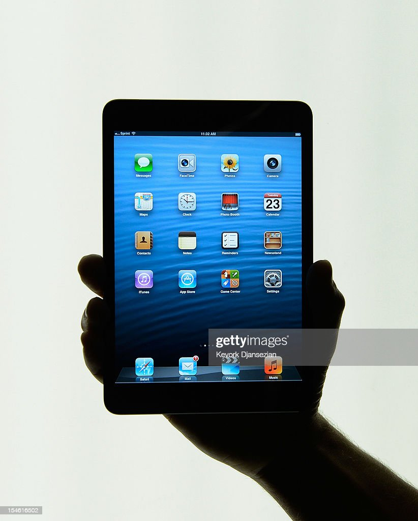 The new iPad mini is displayed after its unveiling at the Apple special event at the historic California Theater on October 23, 2012 in San Jose, California. The iPad mini is Apple's smaller 7.9 inch version of the iPad tablet.