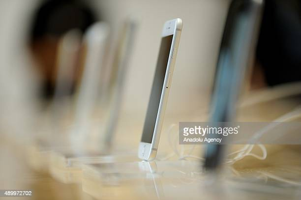 The new iPhone 6s Plus are display in a Softbank store at the highend shopping district of Ginza in Tokyo Japan on Sept 25 2015 Apple sold its new...