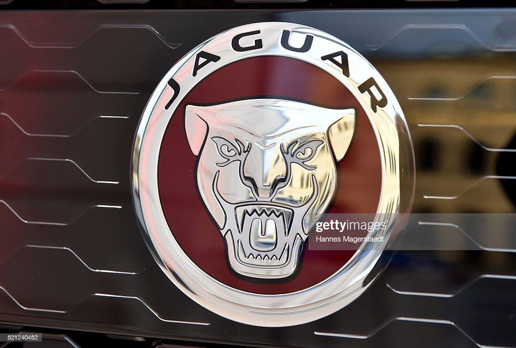 The New Jaguar Logo Is Seen During The Jaguar Presentation Of The