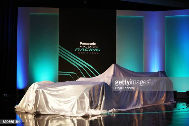 The new Jaguar Racing ITYPE 2 Formula E car is seen during the Panasonic Jaguar Racing RECHARGE LIVE EVENT which launches the team's challenge for...