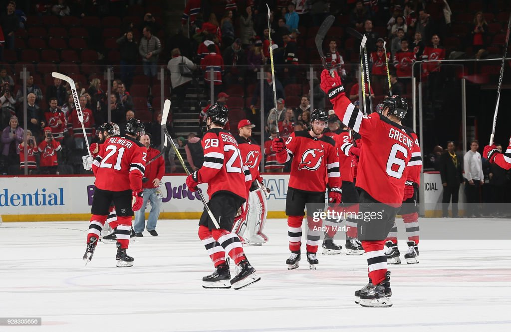 competitive price 8a88a 9845c The New Jersey Devils salute the fans after defeating the ...