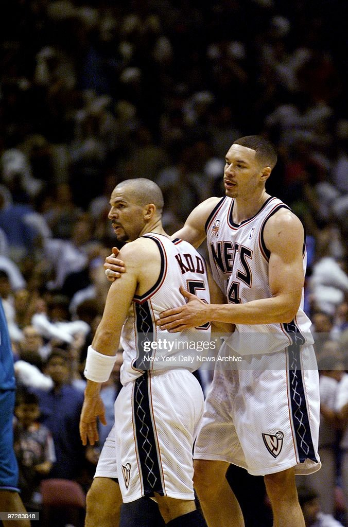 e8b7af4711f The New Jersey Nets  Aaron Williams hugs Jason Kidd at the e   News Photo