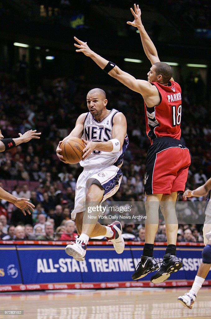 9ca95ad5503 The New Jersey Nets  Jason Kidd passes the ball while defend   News Photo