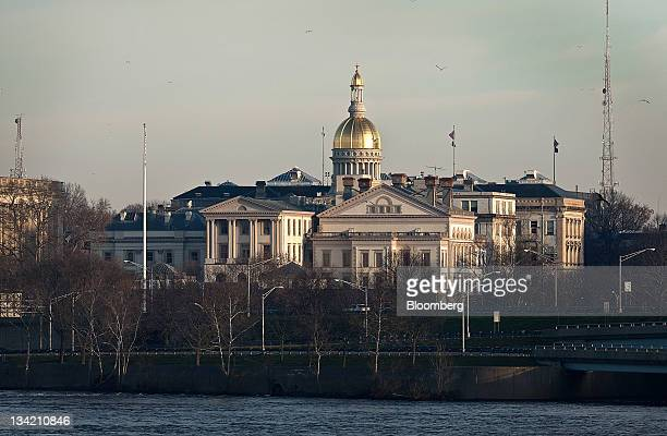 The New Jersey State House stands in Trenton New Jersey US on Sunday Nov 27 2011 Trenton the New Jersey capital and onetime factory hub where 23...
