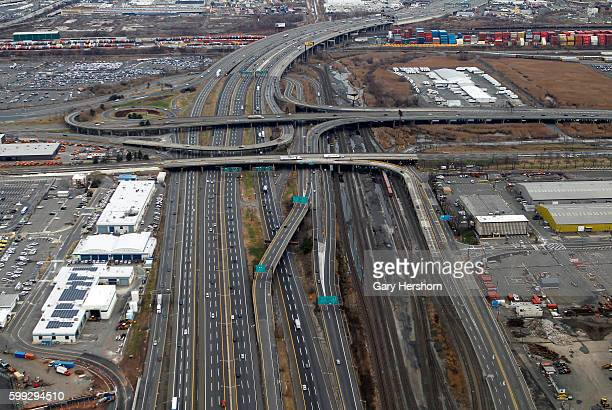 The New Jersey Turnpike is pictured next to Newark Liberty Airport in Newark New Jersey November 29 2014