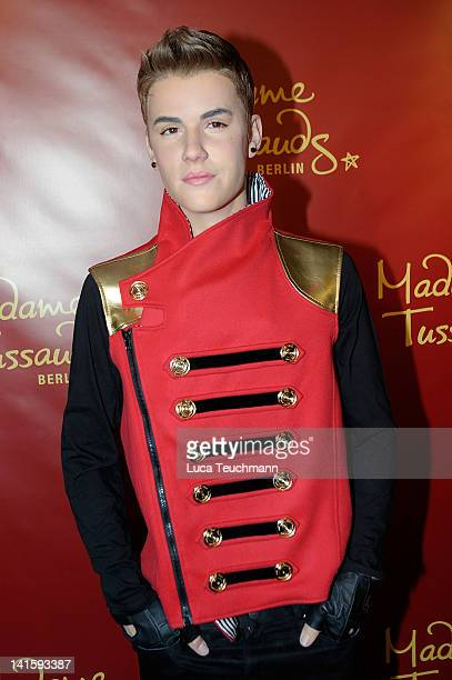 The new Justin Bieber wax figure at Madame Tussauds on March 19 2012 in Berlin Germany