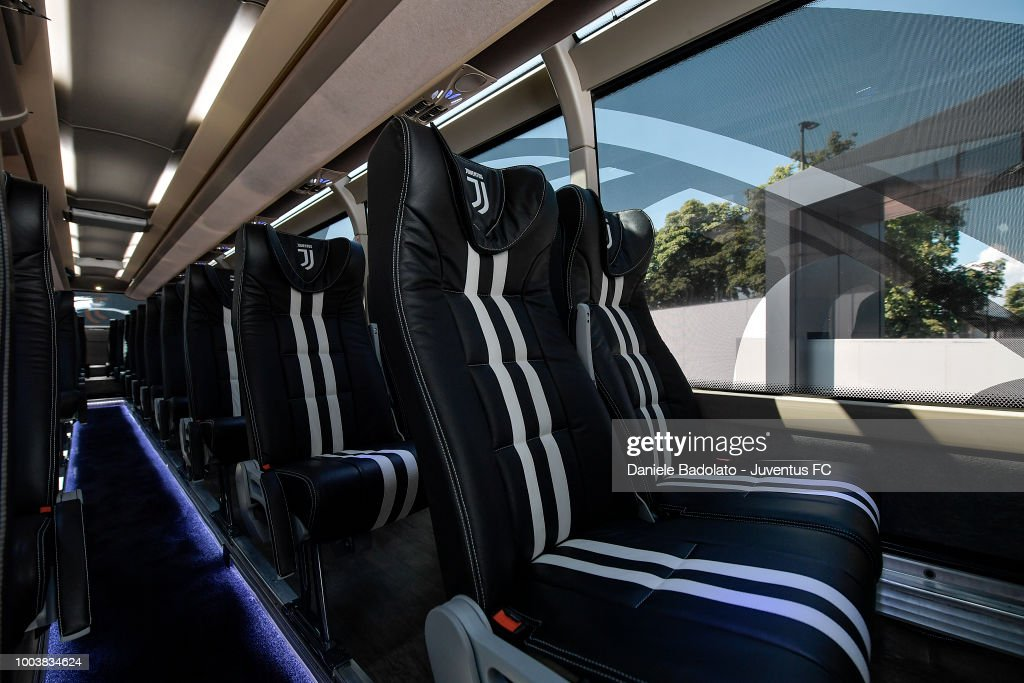 Juventus Unveils New Club Bus