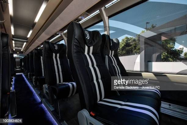 The new Juventus bus is seen on July 22 2018 in Turin Italy