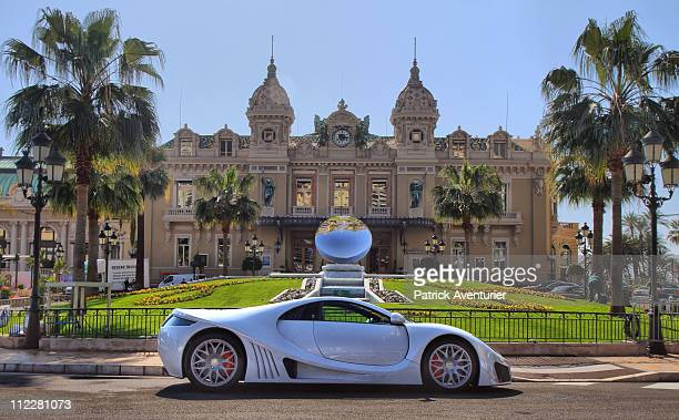 The new Keating ZKRs supercar is displayed in front Monaco Casino during the Top Marques Monaco show at the Grimaldi Forum on April 16 2001 in Monaco...