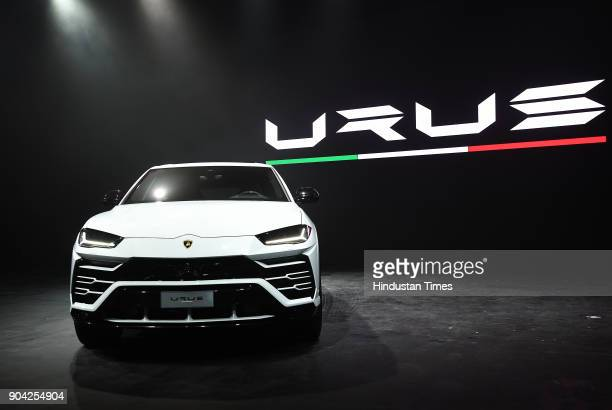 The New Lamborghini Urus the world's super sport utility vehicle Launch at Famous Studio Mahalaxmi on January 11 2018 in Mumbai India In a little...