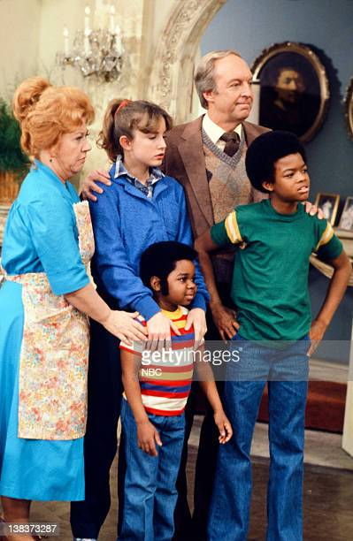 RENT STROKES 'The New Landlord' Episode 16 Pictured Charlotte Rae as Edna Garrett Gary Coleman as Arnold Jackson Dana Plato as Kimberly Drummond...