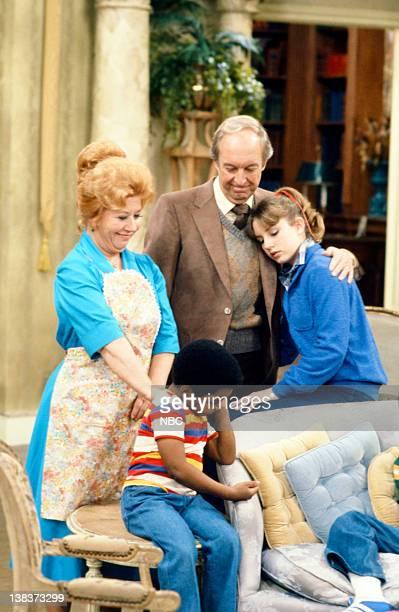 RENT STROKES The New Landlord Episode 16 Pictured Charlotte Rae as Edna Garrett Gary Coleman as Arnold Jackson Conrad Bain as Philip Drummond Dana...