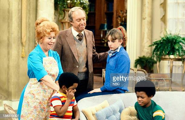 RENT STROKES 'The New Landlord' Episode 16 Pictured Charlotte Rae as Edna Garrett Gary Coleman as Arnold Jackson Conrad Bain as Philip Drummond Dana...