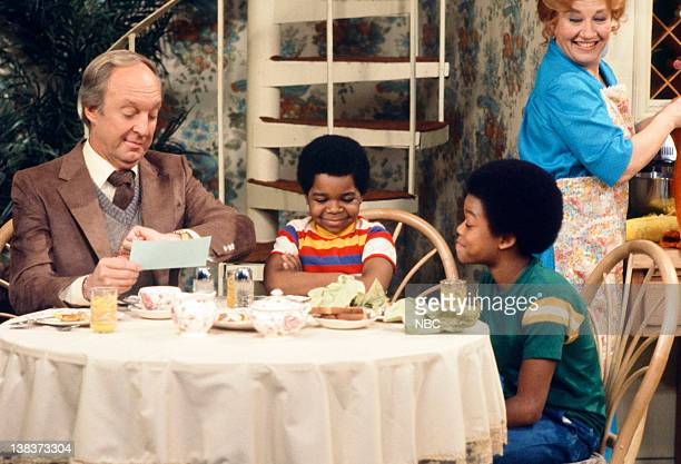 RENT STROKES 'The New Landlord' Episode 16 Pictured Conrad Bain as Philip Drummond Gary Coleman as Arnold Jackson Todd Bridges as Willis Jackson...