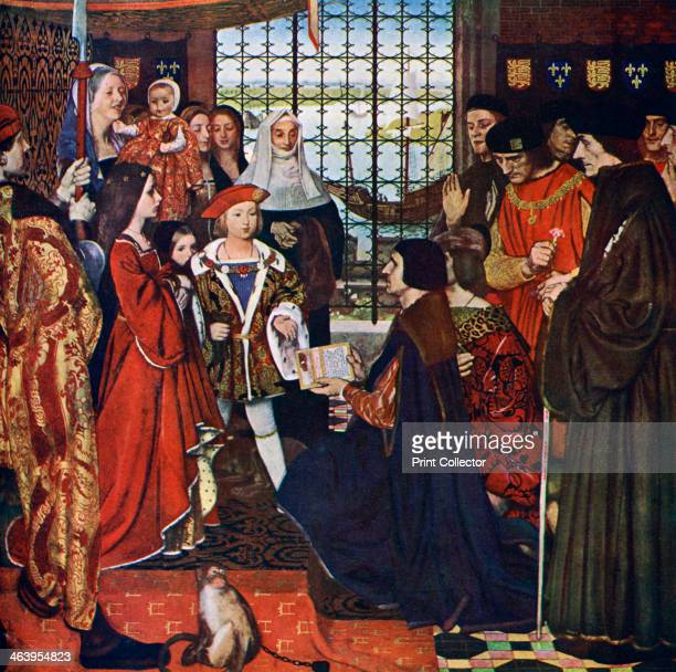 'The New Learning' c1910 Erasmus and Thomas More visit the children of Henry VII at Greenwich in 1499 The boy in the centre is the future King Henry...