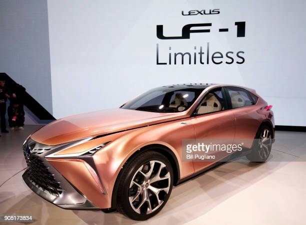 The new Lexus LF1 Limitless concept vehicle makes its debut at the 2018 North American International Auto Show January 15 2018 in Detroit Michigan...
