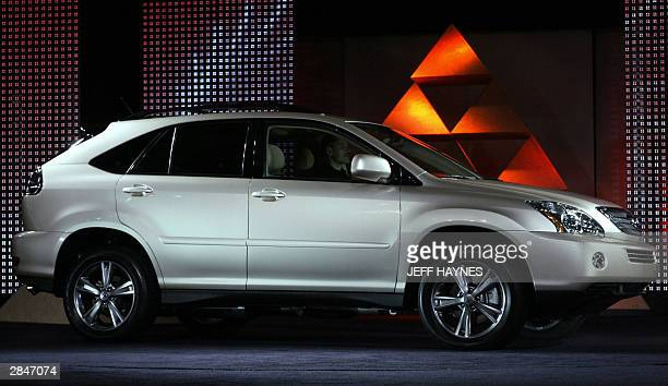 The new Lexus RX 400h is shown 06 January 2004 during the press days at the North American International Auto Show at Cobo Hall in Detroit Michigan...