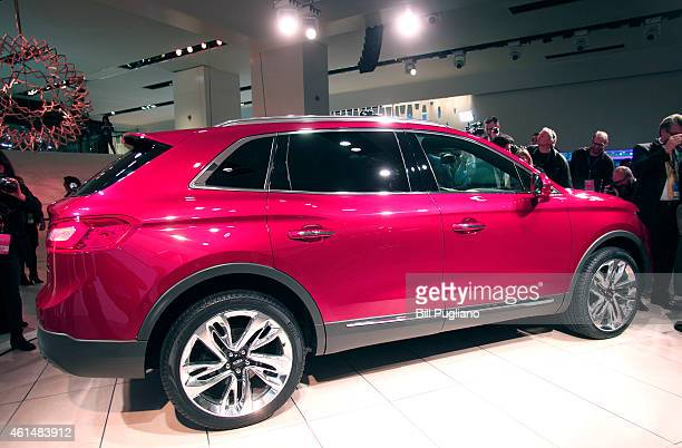 The new Lincoln MKX Crossover vehicle makes its world debut at the 2015 North American International Auto Show on January 13 2015 in Detroit Michigan...