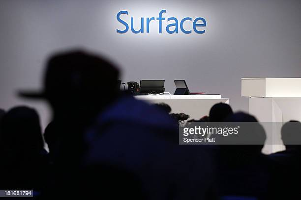 The new lineup of second generation Surface tablets is launched on September 23 2013 in New York CityThe new Surface family includes two products...