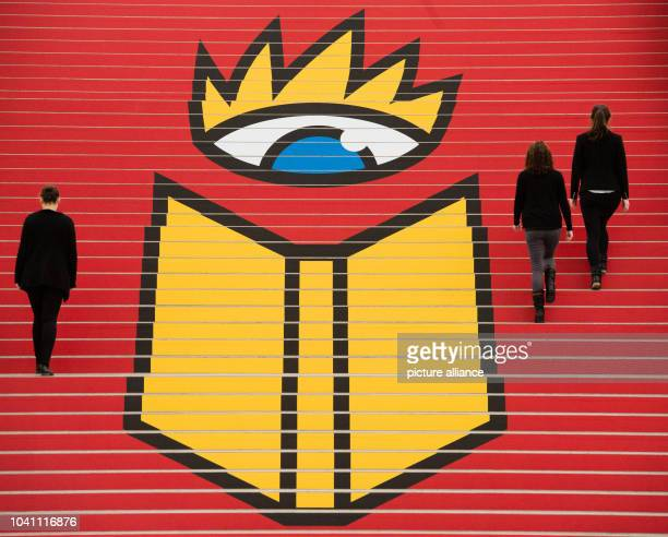 The new logo for the Leipzig Book Fair adorns a staircase on the exhibition grounds in Leipzig Germany 5 March 2015 The Leipzig Book Fair runs from...