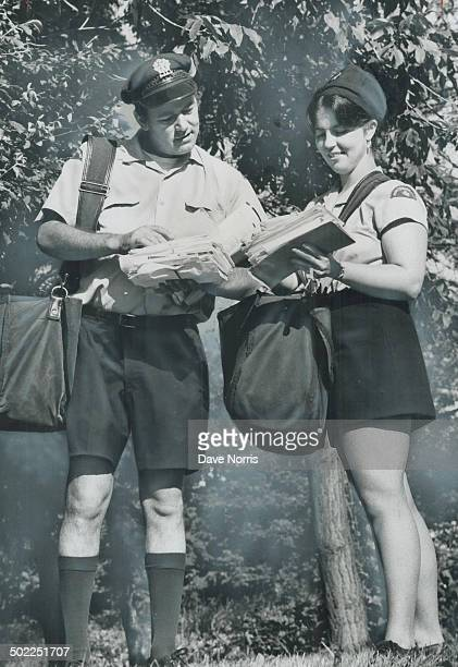 The new look for posties Postman David Dorge wears shorts on his route today now that PostmasterGeneral Andre Ouellet has given them his approval for...
