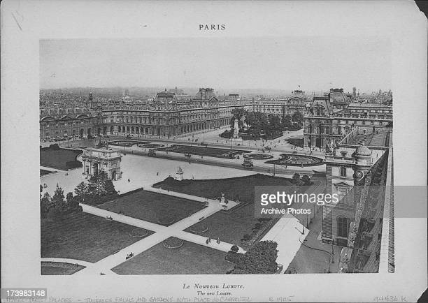 'The New Louvre' or the wings and pavilions extending the Louvre Palace connecting the Tuileries Palace and the Place du Carrousel with the Louvre...
