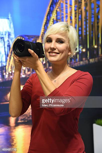 The new Lytro Illum camera is presented during the press preview of the Photokina 2014 trade fair on September 15 2014 in Cologne Germany Photokina...