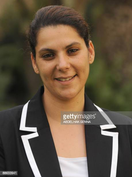 The new mayor of Marrakech one of Morocco's biggest cities and a key tourist destination Fatima Zahra Mansouri poses in the yard of her home on June...