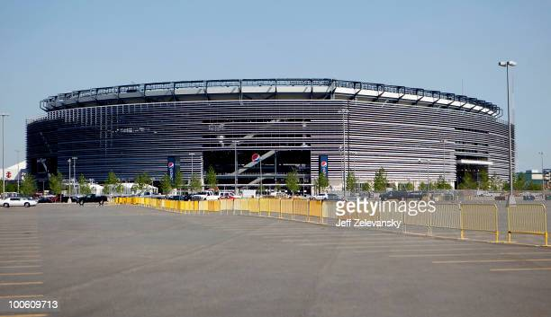 The New Meadowlands Stadium is seen on May 25, 2010 in East Rutherford, New Jersey. The NFL has annouced that the 2014 Super Bowl will be played in...